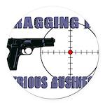 Serious Fragging Round Car Magnet