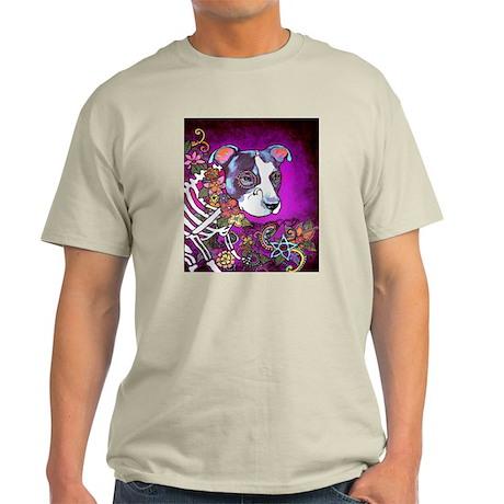 Dia los muertos dog, Pit bull Light T-Shirt