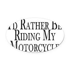 Unique Motorcycle Oval Car Magnet