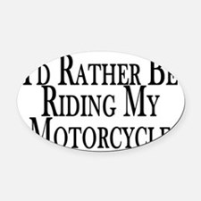 Unique Motorcycle Oval Car Magnet