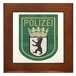 Berlin Police Framed Tile