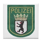 Berlin Police Tile Coaster