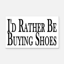 Rather Buy Shoes Rectangle Car Magnet