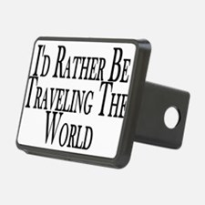 Rather Travel The World Hitch Cover