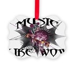 Music Like Wow Picture Ornament