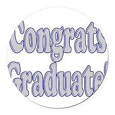 Congrats Graduate! Round Car Magnet
