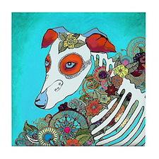 Dia Los muertos, day of the dead dog Tile Coaster