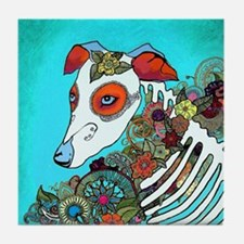 Dia Los muertos, day of the dead dog Tile Coaster