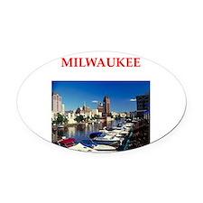 milwaukee Oval Car Magnet