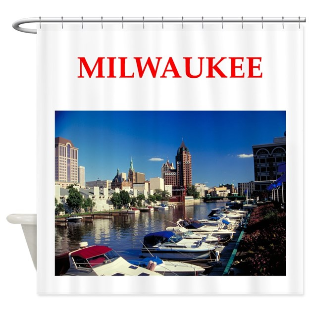 Milwaukee Shower Curtain By CitiesCitiesCities