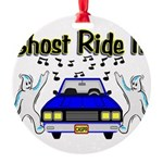 Ghost Ride It Round Ornament