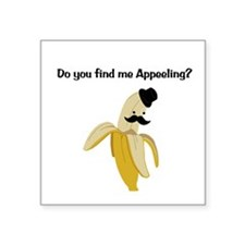 "Appeeling Square Sticker 3"" x 3"""