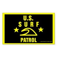 U.S. SURF PATROL Rectangle Decal