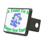 New Year's Toast Rectangular Hitch Cover