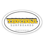 Tanaka Surfboards Oval Sticker