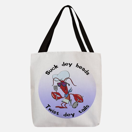 FIN-suck-heads-twist-tails.png Polyester Tote Bag