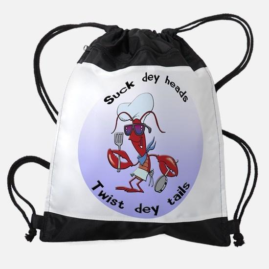FIN-suck-heads-twist-tails.png Drawstring Bag