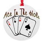 Ace Hole.png Round Ornament
