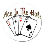 Ace Hole.png Round Car Magnet