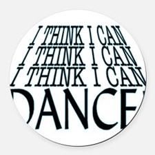 I Can Dance Round Car Magnet