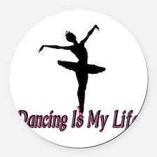 Dancing Life Round Car Magnet