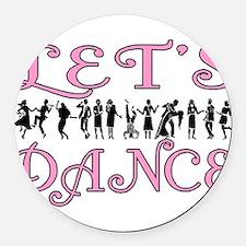 Let's Dance Round Car Magnet