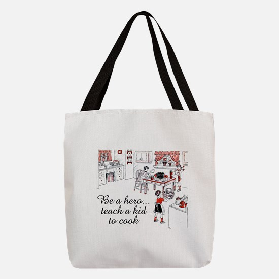 FIN-teach-kid-cook.png Polyester Tote Bag