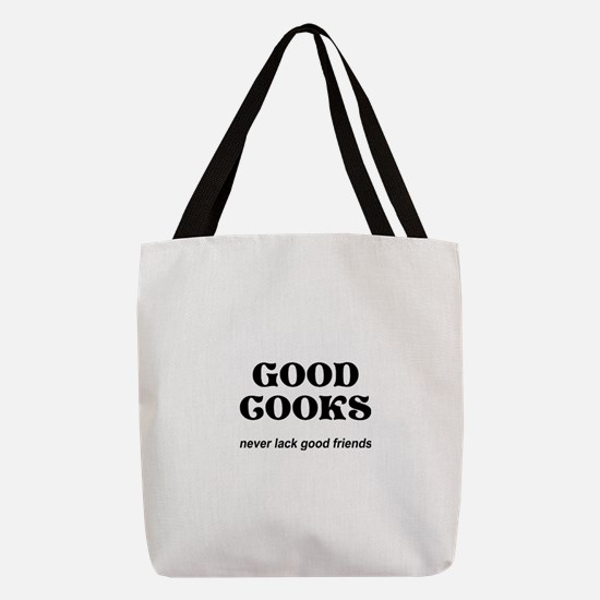 FIN-good-cooks-friends.png Polyester Tote Bag