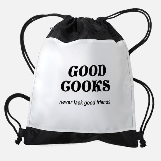 FIN-good-cooks-friends.png Drawstring Bag