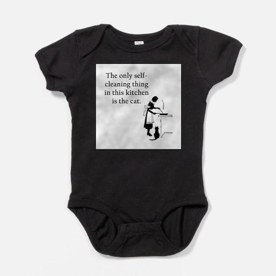 FIN-kitchen-cat.png Baby Bodysuit