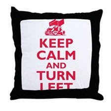 Keep Calm and Turn Left Throw Pillow