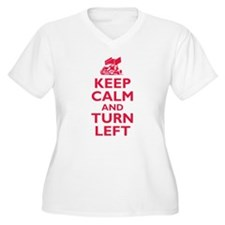 Keep Calm and Turn Left Plus Size T-Shirt