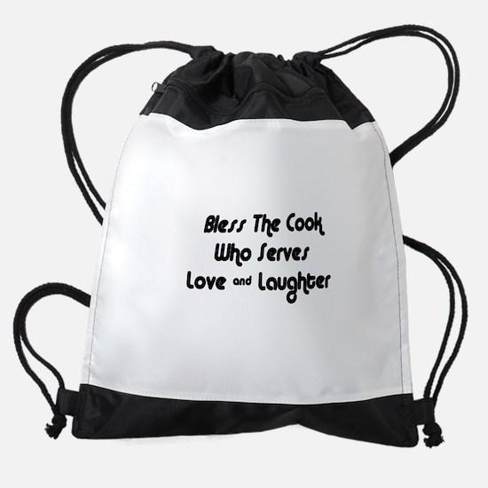 FIN-cook-love-laughter.png Drawstring Bag