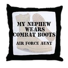 AF Aunt Nephew wears DCB Throw Pillow