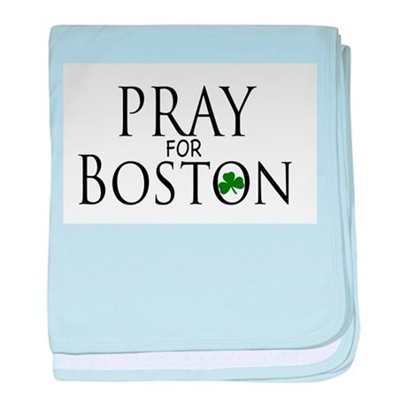Pray for Boston baby blanket