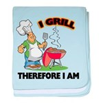 FIN-grill-therefore-i-am.png baby blanket