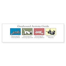 Greyhound Activity Guide Bumper Bumper Sticker