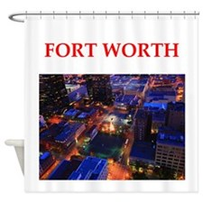 fort worth Shower Curtain