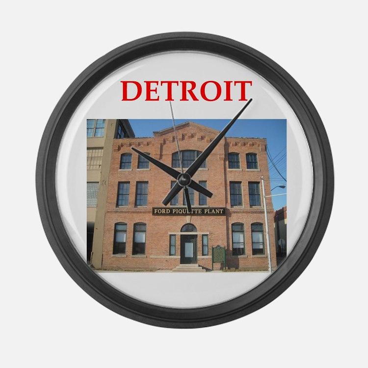 detroit Large Wall Clock