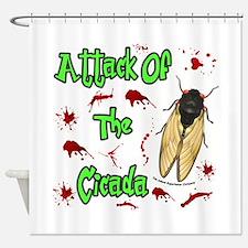 Attack Of Cicada Shower Curtain