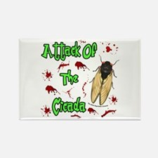Attack Of Cicada Rectangle Magnet