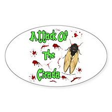 Attack Of Cicada Sticker (Oval)