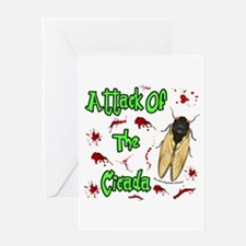 Attack Of Cicada Greeting Card
