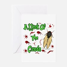 Attack Of Cicada Greeting Cards (Pk of 20)