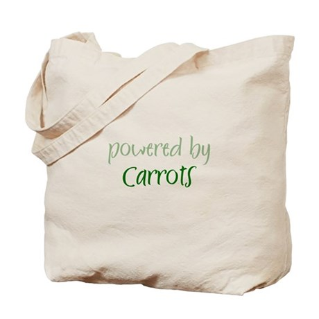 Powered By carrots Tote Bag