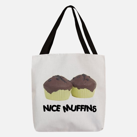 FIN-nice-muffins.png Polyester Tote Bag