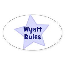 Wyatt Rules Oval Decal