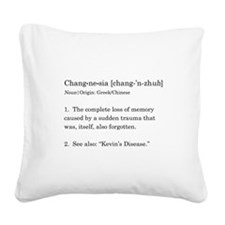 Changnesia in Black Square Canvas Pillow