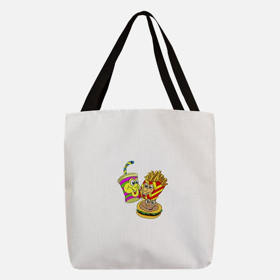 FIN-fast-food-meal.png Polyester Tote Bag