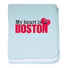 My heart is in Boston baby blanket